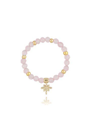 Pierścionek elastyczny z kwarcem różowym PSC0227