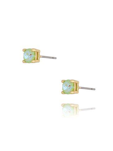 Kolczyki wkrętki z kryształkami zielone KRG0700