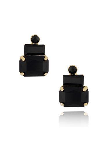 Kolczyki kryształowe czarne KSS0888
