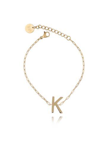 Bransoletka złota z literką K BAT0104