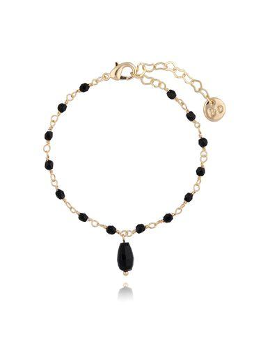 Bransoletka z kryształkami czarna BOA0011