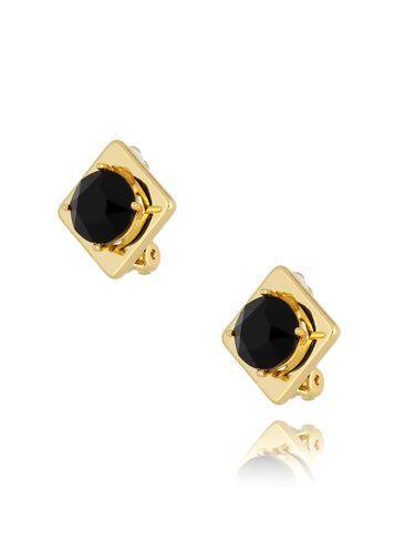 Klipsy z czarnymi kryształkami KTO0003