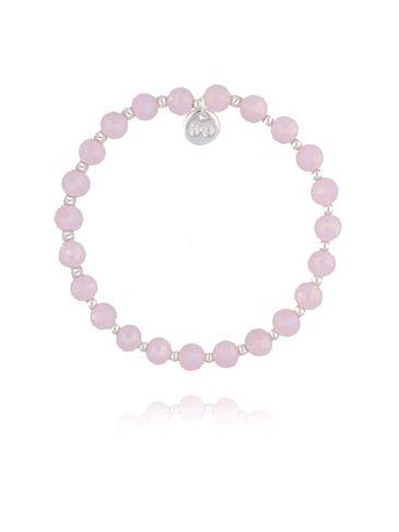 Bransoletka z różowych połyskujących kryształków BBL0218