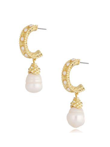 Kolczyki z perłami złote KPE0055