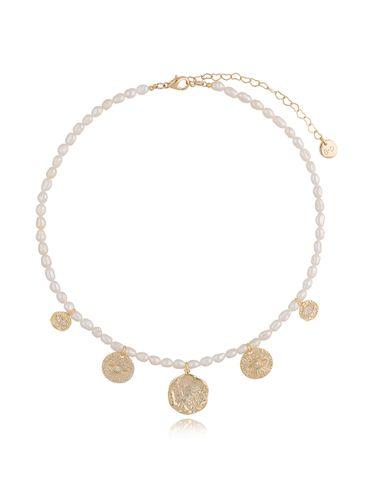 Naszyjnik z perłami i zawieszkami NPA0082