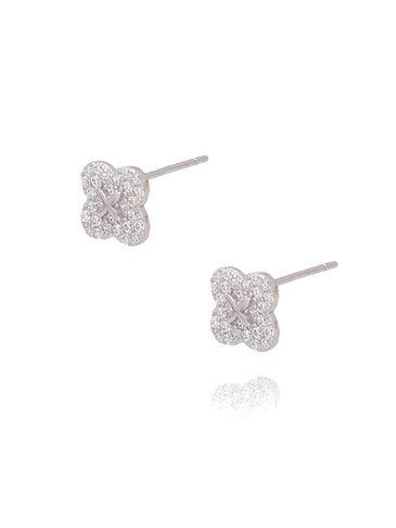Kolczyki srebrne kwiatuszki KGM0089