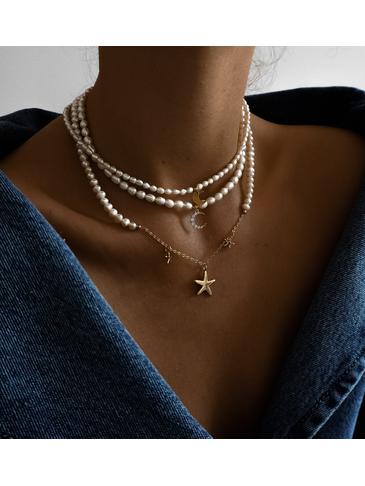 Zestaw naszyjników z perłami Palm Beach