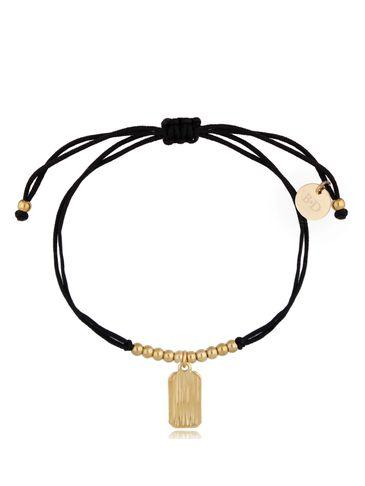 Bransoletka złoto-czarna z zawieszką Simple BGL0507