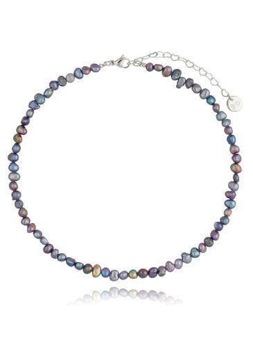 Naszyjnik z szarych pereł Foggy Pearls NPE0065