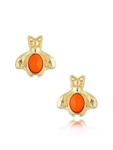 Kolczyki owady pomarańczowe KMI0169