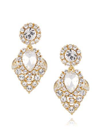 Kolczyki kryształowe złote KSS0825