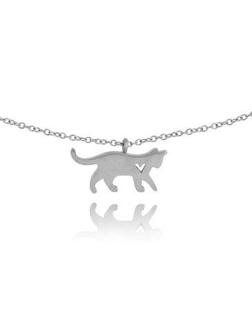 Naszyjnik srebrny z kotkiem ze stali szlachetnej NPS0021