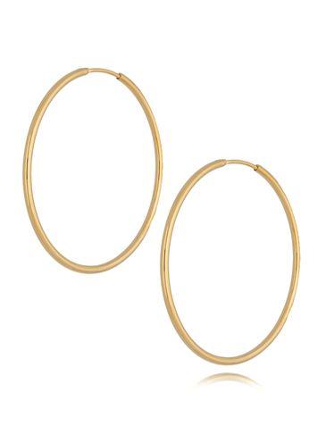 Kolczyki złote koła ze stali szlachetnej KSA0207 50mm