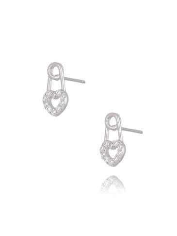 Kolczyki srebrne agrafki z serduszkami KGM0107