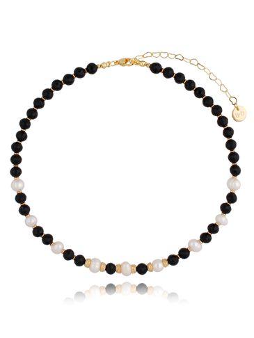 Naszyjnik czarno perłowy NPA0351