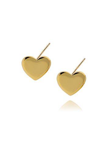 Kolczyki złote serca KFA0004