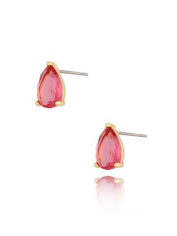 Kolczyki kryształowe różowe łezki Emily KTO0019