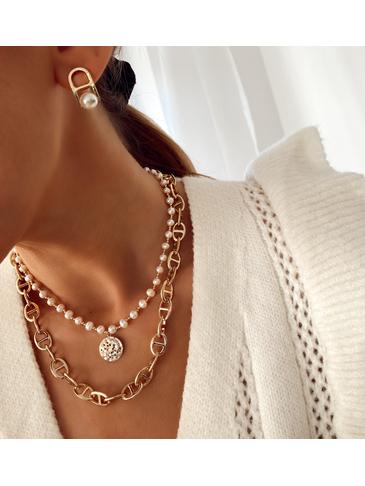 Kolczyki złote  z perłami KPE0035