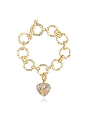 Bransoletka złota z sercem BRG0170