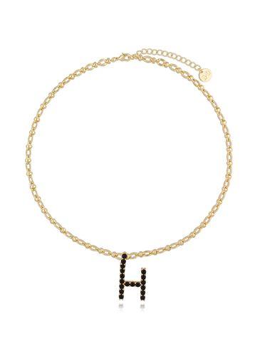 Naszyjnik złoty łańcuch z literą H NRG0227