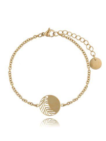 Bransoletka Gold Elegant Leaf BSA0165