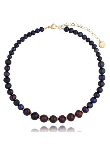 Naszyjnik z ciemnych pereł Sequence Pearls NPE0086