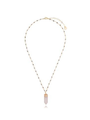 Naszyjnik z kwarcem różowym NPA0240