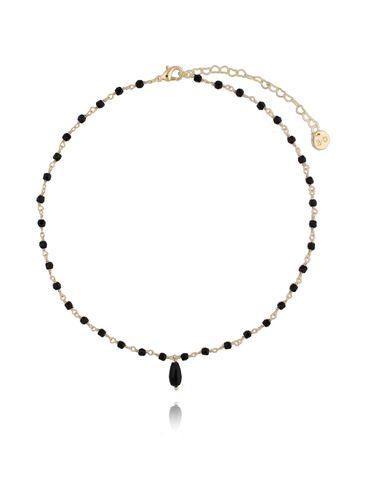 Naszyjnik z czarnymi kryształkami NOA0041