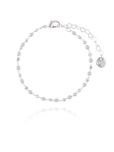 Bransoletka  srebrna z  perełkami  BOA0010