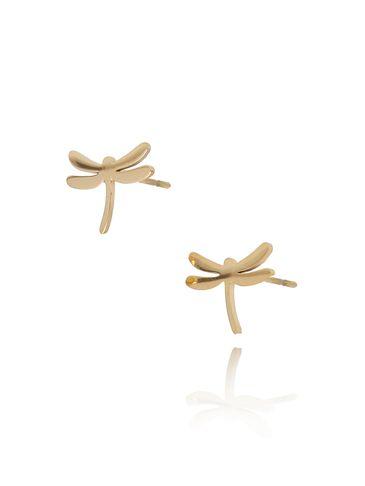 Kolczyki złote ważki KSA0131