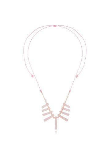 Naszyjnik z kwarcem różowym NPA0383