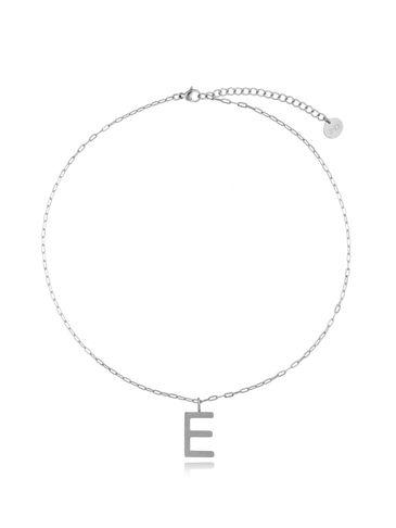 Naszyjnik srebrny z literką E NAT0197
