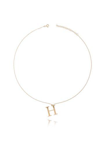 Naszyjnik złoty pozłacany z literką H NAT0161