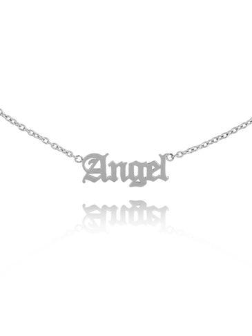 Naszyjnik srebrny z ANGEL ze stali szlachetnej NSA0156