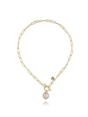 Naszyjnik złoty łańcuch z perłą NRG0275