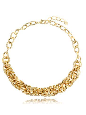 Naszyjnik szeroki łańcuch złoty Julia NRG0365