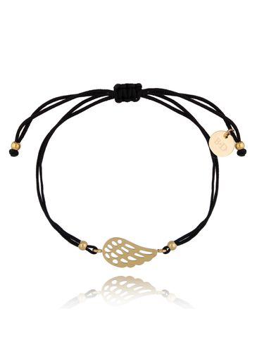 Bransoletka złoto-czarna ze skrzydełkiem Lizzy BGL0515
