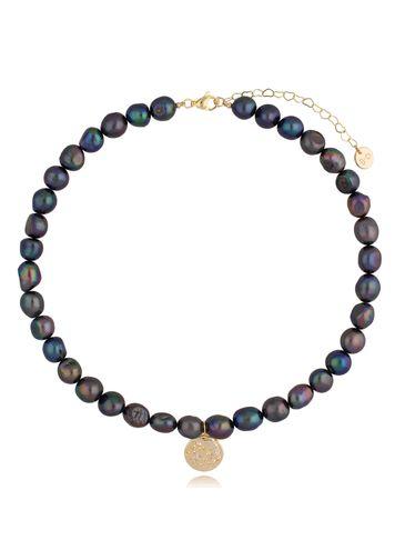 Naszyjnik z ciemnych pereł z zawieszką Big Night Pearls NPE0063