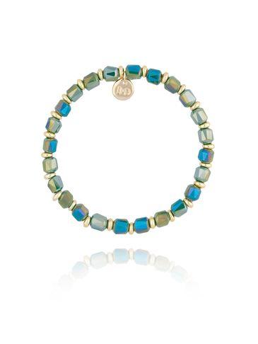 Bransoletka z zielonymi  kryształkami BBL0162