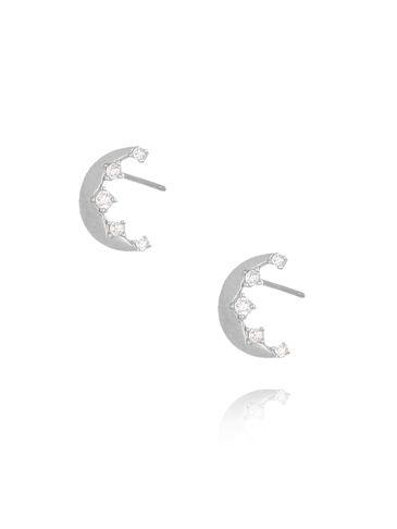 Kolczyki srebrne księżyce KGM0074