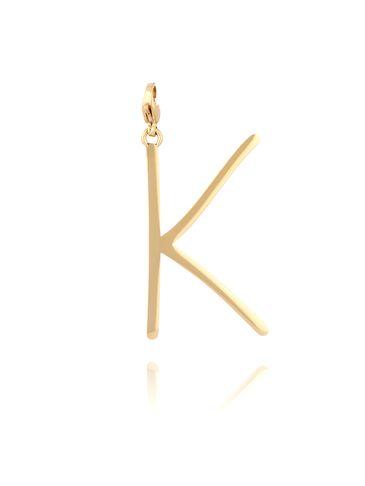 Zawieszka ze stali szlachetnej złota literka K Alphabet NAT0057