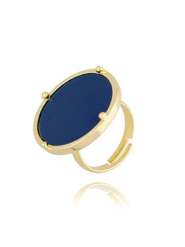 Pierścionek złoty z niebieskim oczkiem PTO0005