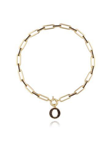 Naszyjnik złoty łańcuch z okrągłą zawieszką NRG0169