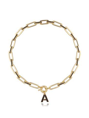 Naszyjnik złoty łańcuch z zawieszką  A NRG0281