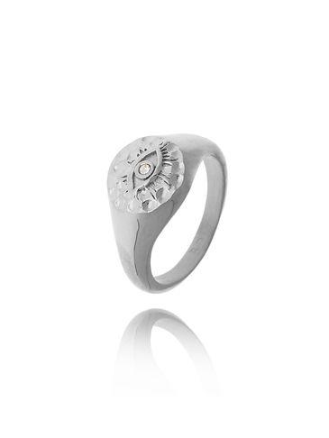 Pierścionek srebrny ze stali szlachetnej PSA0144  Rozmiar 15