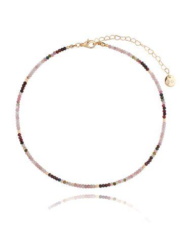 Naszyjnik z turmalinami i rubinami NTW0110