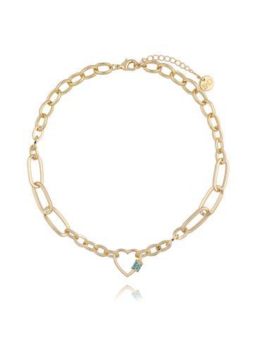 Naszyjnik złoty łańcuch z sercem NSL0017