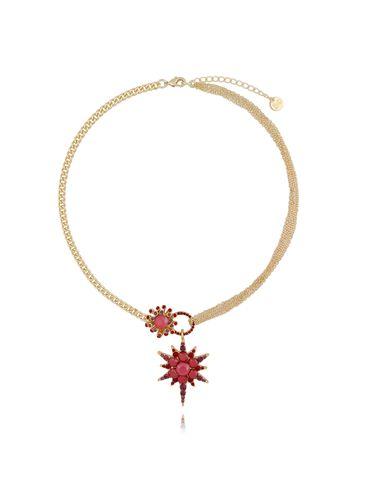 Naszyjnik z czerwoną gwiazdą NU0010