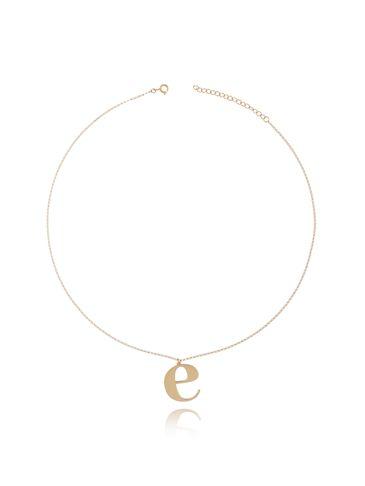 Naszyjnik złoty pozłacany z literką E NAT0160