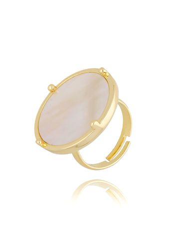 Pierścionek złoty z perłowym oczkiem Bella PTO0001
